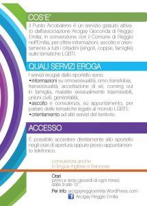 Punto Arcobaleno, Arcigay Reggio Emilia